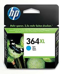 HP 364XL - Cartucho de tinta Original HP 364XL de álta capacidad Cian para HP DeskJet, HP OfficeJet y HP PhotoSmart