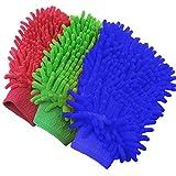 3 Pack Car Wash Mitt Chenille Microfiber Free Gloves Premium Scratch