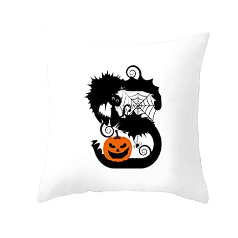 YGbuy Alfabeto De Halloween PatróN Divertido Imprimir ...