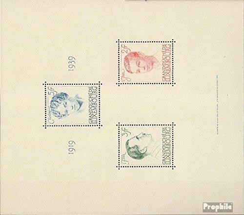 hermoso Prophila Collection Luxemburgo Luxemburgo Luxemburgo Bloque 3 (Completa.edición.) 1939 Jubileo (Sellos para los coleccionistas)  Precio por piso