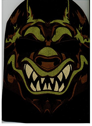 Werewolf Mens Black Ski Mask Twiztid Insane Clown Posse Icp Face Knit Beanie Hat Skull Cap
