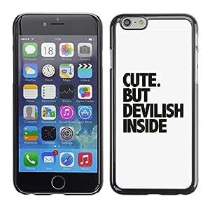 CaseCaptain Carcasa Funda Case - Apple Iphone 6 / Cute Message /