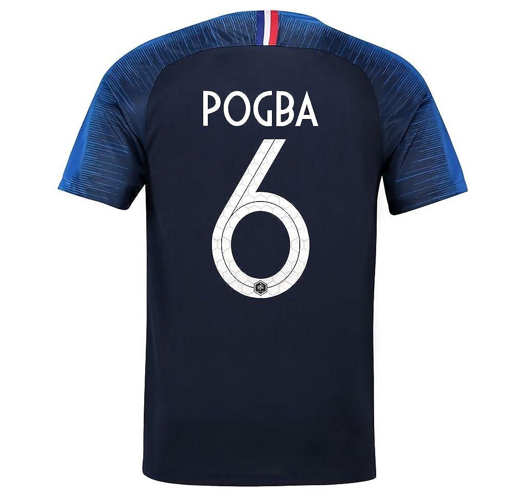 CampJuly 2018 Herren Trikot World Cup Soccer Team France Pogba 6 Blau