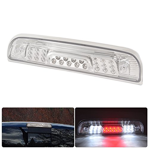 Chevy Silverado 1500 Chrome Full Led 3rd Third Brake Stop Roof Top Mount Light Lamps Replacement (Chevy Chrome Motor Mount)