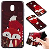 Galaxy J5 2017 Case [with Free Screen Protector],Kwapo® Colorful Cartoon Painted Design Ultra-Slim Transparent Soft Flexible TPU Silicone Back Rubber Bumper Clear Protective Cover Case for Samsung Galaxy J5 2017 - Fox