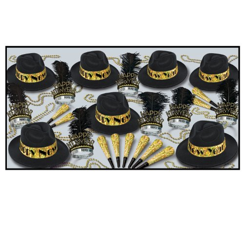 Swingin' Gold Asst for 50 (black & gold) Party Accessory  (1 count) by Beistle