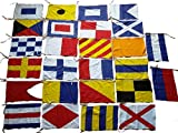 Naval Signal Flags / Flag Set- 100% Cotton – Set Of Total 26 Flag – Marine Code (5042)