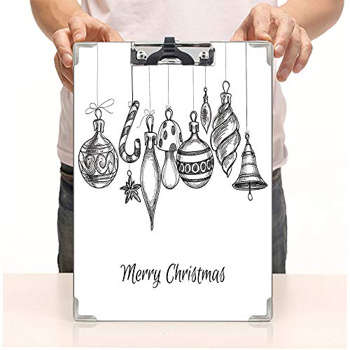 Custom Printing Clipboard,Hardboard Clipboard Pack,Classical Ornaments Hanging from Strings Celebration,Office School Workers Business use