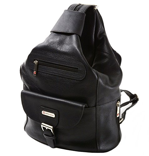 Genuine Leather Backpack Bag Handbag - Womens Alpine Swiss Genuine Leather Backpack Purse Handbags