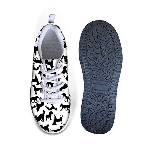 CHAQLIN Fashion Women's Sneaker Platform Wedges Casual Animal Printing 3D Shoes Dog 7 Platform rTWvqdrO