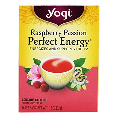 (Yogi Perfect Positive Energy Variety Pack 3 boxes of tea including Vanilla Spice Perfect Energy, Raspberry and Tangerine)