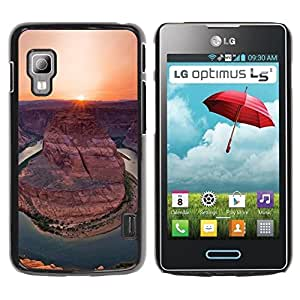 Paccase / SLIM PC / Aliminium Casa Carcasa Funda Case Cover para - Canyon Sunset Sunrise Sun Desert - LG Optimus L5 II Dual E455 E460