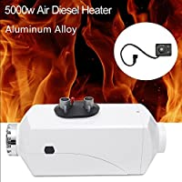 WMN_TRULYSTEP Aluminum Alloy 5000W 12/24V Air Diesel Heater Planar Auto Car Trucks Motor Boats Bus Parking,Adjustable Time,Liquid Crystal Display,Speed Hot,Low Fuel Consumption,Work in Low Temperature