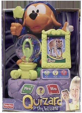 B000F7M8GM Fisher Price QUIZARD the LEARNING WIZARD w INTERACTIVE CARDS, LIGHTS & SOUNDS Expandable System TEACHES 30+ SKILLS (2006) 51BFZQAFW8L