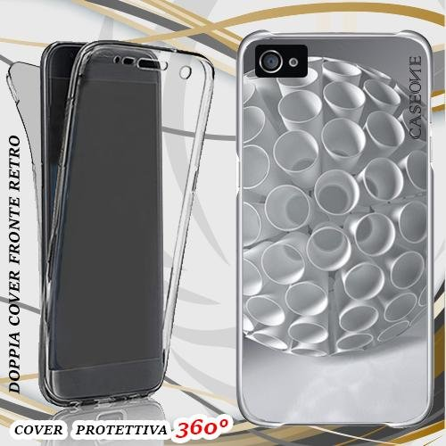CUSTODIA COVER CASE SFERA MAGICA VINTAGE PER IPHONE 4 FRONT BACK
