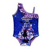 PCLOUD Vampirina Girls Swimsuit Swimwear Bathing Suit One Piece (Rose/Purple/Pink)