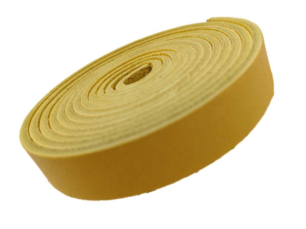 TOFL Strips 革製ストラップ クラフト用 幅5/8インチ 厚さ1/8インチ 長さ72インチ イエロー B07KDHX4G2 マンゴー