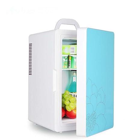 Refrigerador 16L Puerta Sencilla Refrigeración Individual Espejo De Vidrio Templado Coche Coche 12V/Casa 220V