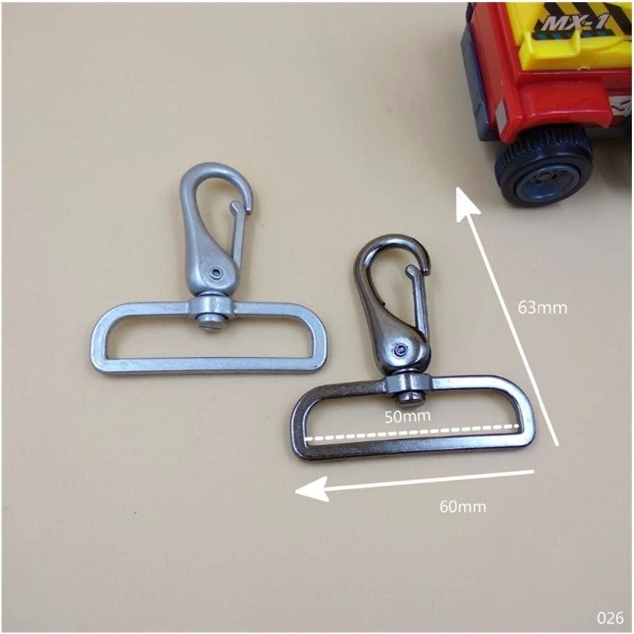2 pulgadas for 50mm Carga de 4 plato grande eslabón giratorio del metal Corchete de la hebilla del gancho de bricolaje bolsa de hombro de la correa de accesorios, Estable y duradera