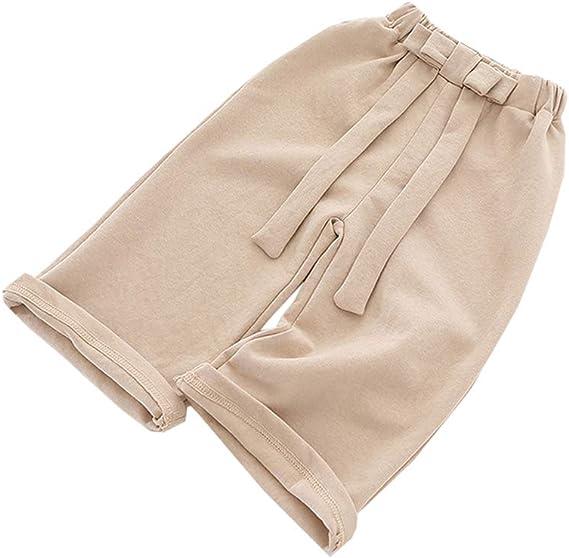 ALLAIBB Automne B/éb/é Filles Pantalons /à Jambes Larges Enfants Arc Pantalon en Coton De Mode