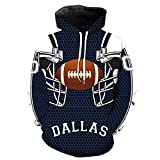 Men's Dallas Cowboy 3D Hoodies 2018 New Printed Pocket Jacket Fashion Tracksuit Pullovers