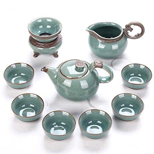 Dehua Porcelain Chinese Style Porcelain Handcrafted Kung Fu Tea Set-Glazed - Handcrafted Porcelain Glazed