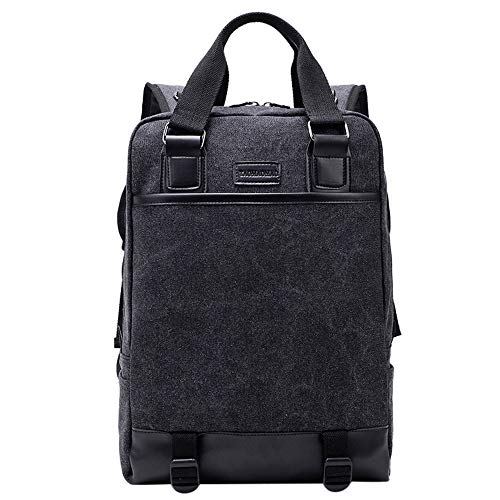 Backpack Men Women Black Canvas Unisex Travel Multifunction Fashion Jiangfu Satchel Book Rucksack Bag green Shoulder School BCn45wIB