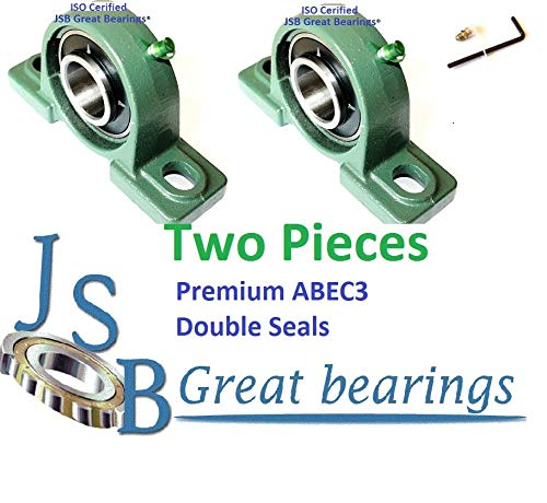 Qty.2 Premium UCP202-10 Double Seals ABEC3 Pillow Block Bearings 5//8 bore UCP202 10