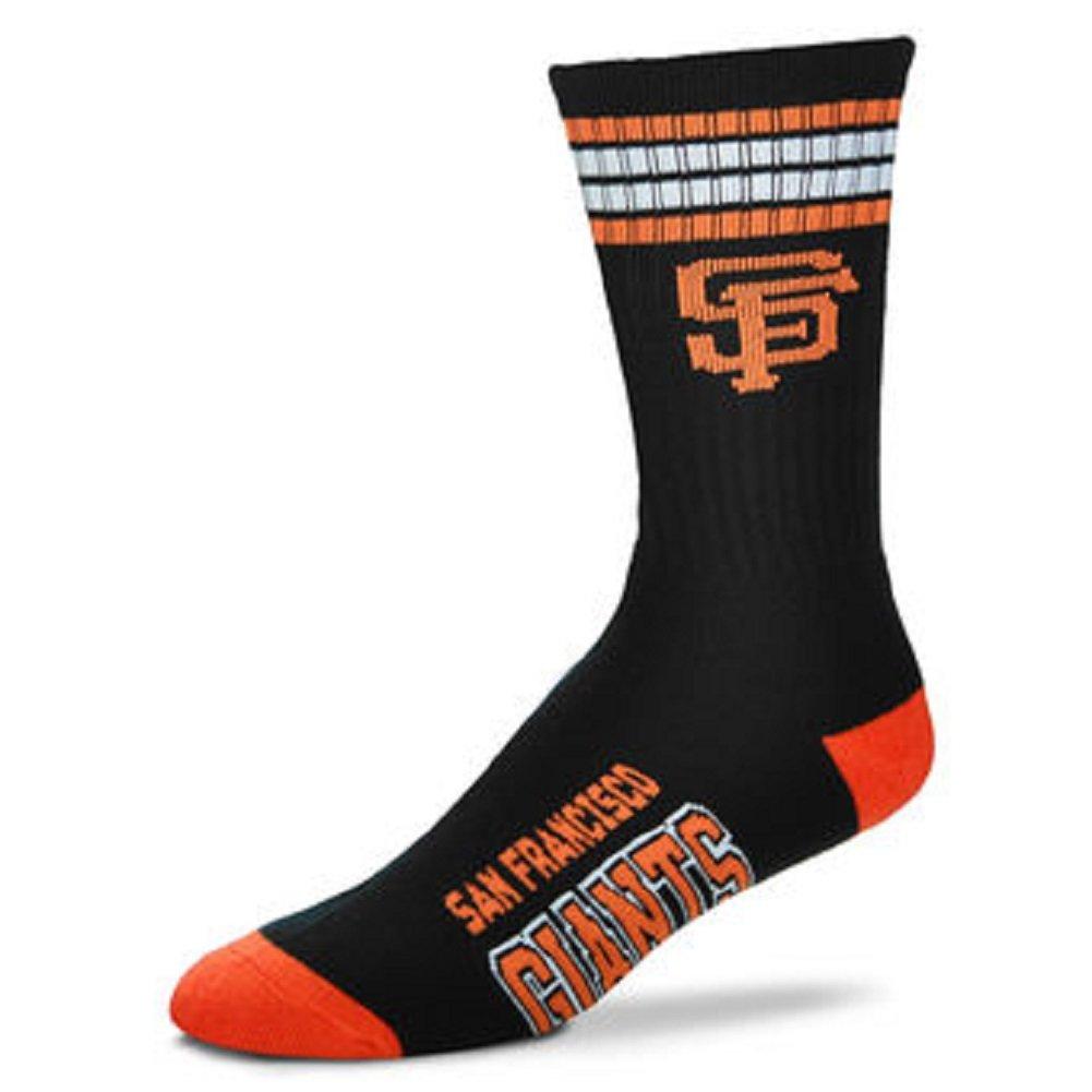 San Francisco Giants 4 Stripe Youth Size MLB Crew Kids Socks 4-8 YRS