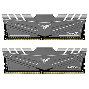 TEAMGROUP T-Force Dark Z DDR4 16GB Kit (2 x 8GB) 3200MHz (PC4-25600) CL 16 288-Pin SDRAM Desktop Gaming Memory Module Ram - Gray - TDZGD416G3200HC16CDC01