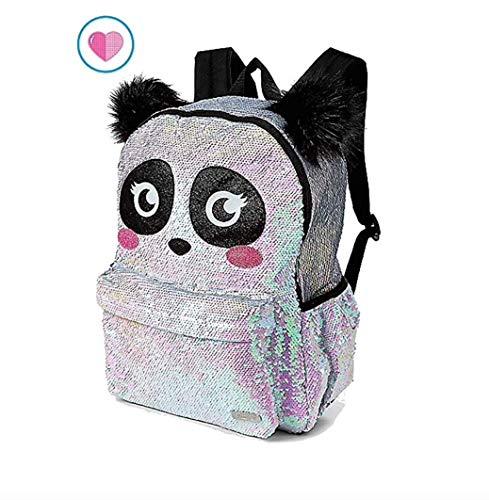 Justice Sparkle Panda Flip Sequin School Backpack