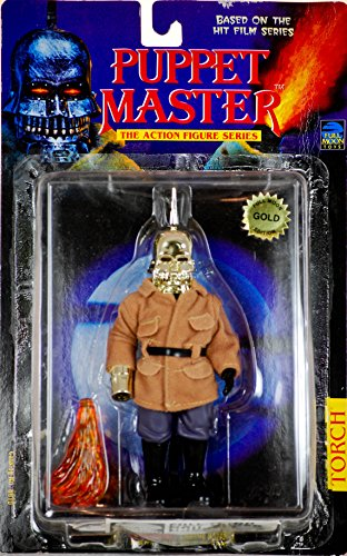 1998 - Full Moon Toys Inc - Puppet Master - Action Figure Series - Torch - Full Moon GOLD Edition - OOP - Rare - New - MOC - Collectible