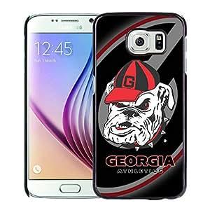 Samsung Galaxy S6 Case,Southeastern Conference SEC Football Georgia Bulldogs 3 Black For Samsung Galaxy S6 Case