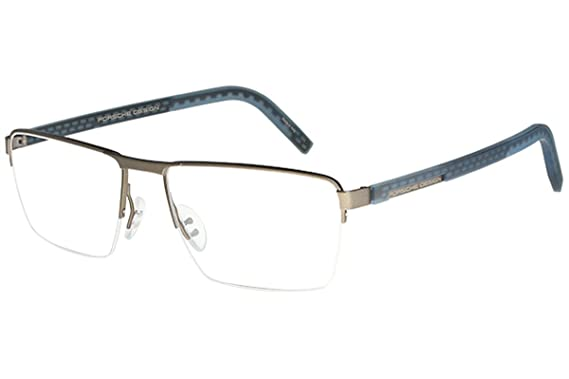 85cc7aad6442 Porsche Design Men s Eyeglasses P8301 P 8301 C Olive Half Rim Optical Frame  56mm