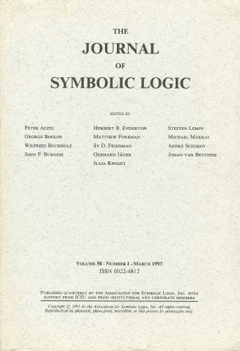 The Journal of Symbolic Logic: Volume 58, Number 1, March 1993