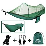 Mosquito Hammock, PACKGOUT Camping Gear Sleeping Hammock with Bug Net and Lightweight Portable Hammock for Travel Hiking Outdoor