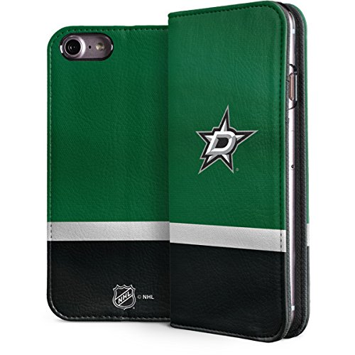 Skinit NHL Dallas Stars iPhone 7 Folio Case - Dallas Stars Jersey Design - Faux-Leather Wallet Phone Cover (Stars Purse Jersey Dallas)