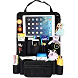 """The NUI Life Car Back seat Organizer with Hideaway Holder for Tablets up to 10.5"""" - Storage and Organization for Kids Toys and Accessories - Backseat Protector, Kick Mat"""