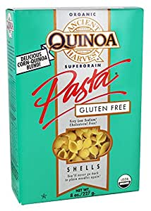 Ancient Harvest Quinoa - Organic Gluten Free Supergrain Quinoa Pasta Shells - 8 oz (pack of 2)