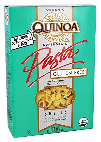 Ancient Harvest Quinoa - Organic Gluten Free Supergrain Quinoa Pasta Shells - 8 oz (pack of 2)