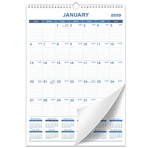 2019 Wall Calendar - Calendar Planner 2019, Thick Paper Perfect for Organizing & Planning, 12