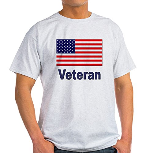 Flag Front Ash Grey T-shirt - CafePress American Flag Veteran (Front) Ash Grey T-Shirt 100% Cotton T-Shirt