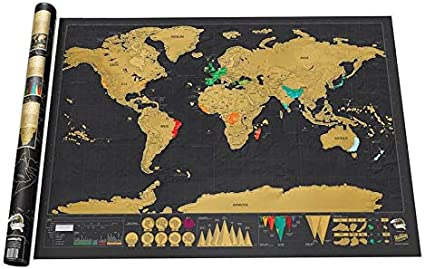 Mapa del Mundo para Rascar, Kalavika Scratch Map Travel Detalles ...