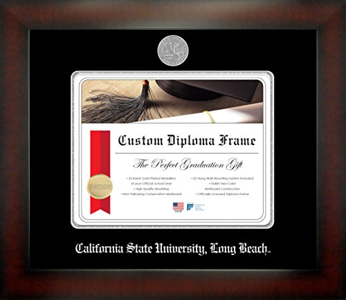 California State University, Long Beach 8½ x 11 Mahogany Finish Infinity Diploma Frame by Celebration Frames by Celebration Frames