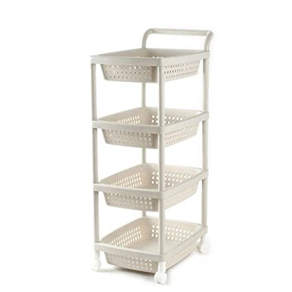 amazon com 3 tier basket stand kitchen bathroom trolley storage rh amazon com