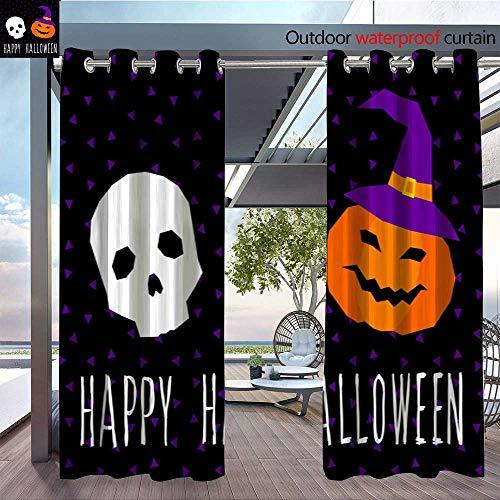 QianHe Fashions Drape Happy-halloween-card-template-Abstract-halloween-pattern-for-design-card-party-invitation-poster-album-menu-t-shirt-bag-print-etc-10.jpg Outdoor Curtain Waterproof Rustproof Gr