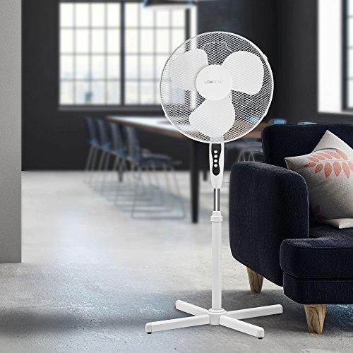 Clatronic VL 3603 S Ventilador de pie oscilante, 3 velocidades, Altura Ajustable, 40 cm, 45 W, Blanco: Clatronic: Amazon.es: Hogar