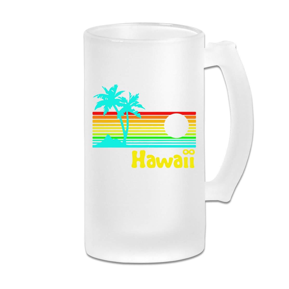 Vaso de cerveza retro vintage hawaiana de los años 80 con asa ...