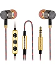 Betron YSM1000 Earphones Headphones, High Definition, in-ear, Noise Isolating, Heavy Deep Bass for Samsung, LG (With Remote and Mic)