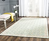 Safavieh Newport Collection NPT443D Hand-Hooked Aquamarine and Beige Cotton Area Rug (3'9″ x 5'9″)